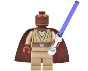 Lego Star Wars Minifigure Jedi Mace Windu & Lightsaber 9526 **New** **Rare**