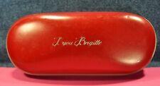 """Bijou Brigitte"" Original  Italian  Red  Hard Oversized Eyeglasses  Metal  case"