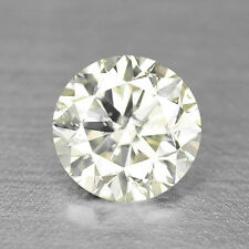 0.50CTS SPARKLING 5MM ROUND NATURAL FANCY YELLOW DIAMOND VIDEO IN DESCRIPTION