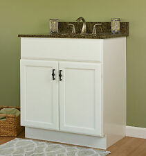 """Jsi Plymouth 30"""" White Two Door Bathroom Single Vanity - Cabinet Only"""
