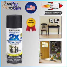 12-Oz Flat Black Multi Purpose Spray Paint For Metal And Wood Surface Oil-Based