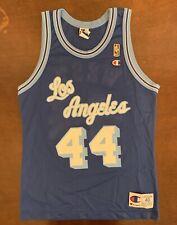 Rare Vintage Champion NBA Los Angeles LA Lakers Jerry West Gold Logo Jersey