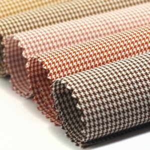 Houndstooth Fabric Plaid Check Suit Costume Making Sofa Cushion Curtain Vintage