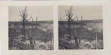 Gran Guerra Madera después bombardeo WW1 Foto Estéreo Vintage Analógica