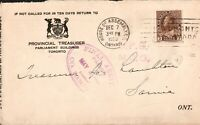 Cover Canada- Ontario Government -1920- House of Assembly P.O. cancel