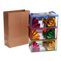 Portable Paper Bag Flower Boxes Appearing Illusion Magic Conjuring
