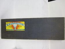 vintage indoor badminton game set feather shuttlecocks milton bradley rare