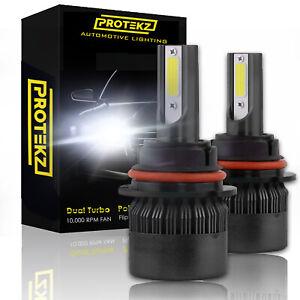2PCS CREE H4 9003 HB2 LED Headlight Hi-Lo Bulbs 1500W 225000LM 6500K Light White