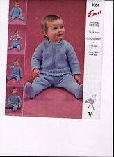 Vintage 50 - 60s 1/- EMU Tejer patrón chicos-chicas Jumper-Leggings Qk DK19-21