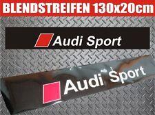 AUDI SPORT BLENDSTREIFEN SONNENSCHUTZ AUFKLEBER SCHEIBENKEIL 130x20 cm. !!!