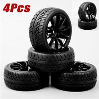 4Pcs 1:10 RC Drift Tires&Wheels Rims 12mm Hex For HSP HPI On-Road Racing Car