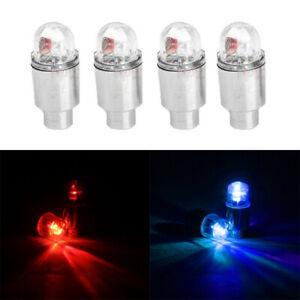4Pcs LED Dragonfly Car Wheel Tyre Decoration Tire Air Valve Stem Cap Light Lamps