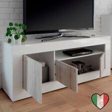 Mobile Porta TV Pino/Laccato Bianco - Lipari - Made in Italy
