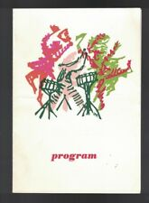 Holland America Line SS Nieuw Amsterdam Seabreeze Revue Program March 22 1966