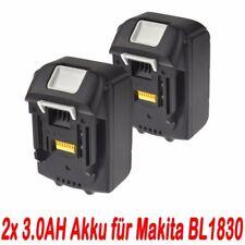 2x 18V 3.0AH Akku für Makita BL1830 BL1840 BL1815 BL1860  LXT Lithium Ion NEU