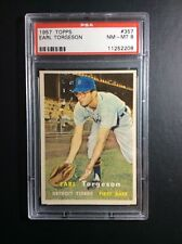 1957 Topps #357 Earl Torgeson Detroit Tigers PSA 8