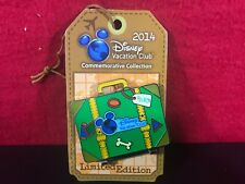 Disney Vacation Club Pluto Cruise Pin Hinged Suitcase Limited Edition 2014 New