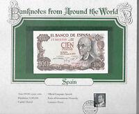 World Banknotes Spain 100 Pesetas 1970 P 152 UNC Prefix 7U