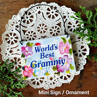 DECO Mini Sign Plaque BEST GRAMMY  Wood Ornament  Family Everyday Decor USA New