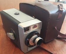 "Vintage Kodak ""Brownie 8"" 8mm Wind-Up Movie Camera & Case, Working"