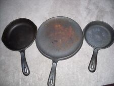 Vintage Wagner's 1891 Cast Iron Cookware - see details