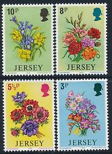 1974 JERSEY SPRING FLOWERS SET OF 4 FINE MINT MNH/MUH
