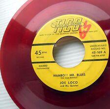 JOE LOCO Mambo!! Mr.Blues / Perdido RED VINYL 1953 Latin 45 on TICO W6281