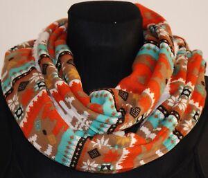 Warm soft winter scarf shawl christmas party reindeer infinity snood loop circle