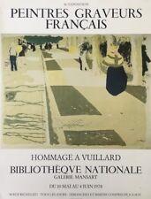 HOMMAGE Jean Édouard Vuillard AFFICHE D'EXPOSITION FONDS CREUZEVAULT Nabi
