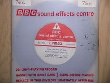 """BBC Sound Effects 7"""" Record - Small Children at Play, Nursery School (2 to 5 YO)"""
