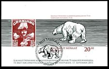 GREENLAND 2013, 75th Founding Postal A. Imperforated Special Souvenir Sheet CTO