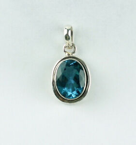 Alexandrite Synth. Pendant Color Change 925 Silver Alexendrite Faceted Oval
