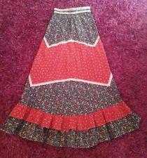 Gunne Sax Prairie skirt, Gunnies sz 6-8, 1970s maxi