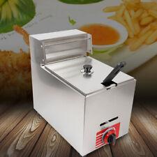 New Listing10l Commercial Countertop Gas Fryer Propane Lpg Deep Frying Pot Ss304 1basket