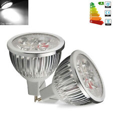 4x High Power 6W MR16 LED Spotlight Bulbs Day White 50W SpotLamp Downlight DC12V