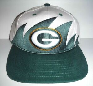 NFL VINTAGE GREEN BAY PACKERS NFL RETRO SHARK'S TOOTH STYLE CAP Hat NEW
