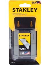 Stanley 100-Pk Utility Knife Blades Replacement Precision-honed Edges Heavy Duty