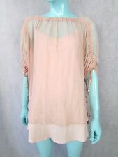 ALICE BY TEMPERLY SILK BLOUSE WITH SLIP SIZE UK 12