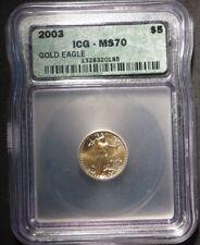 2003 1/10 oz Gold Eagle- IGC MS 70