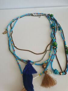 Multi Strand Beaded Native American Style Necklace