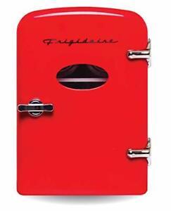 Frigidaire EFMIS129-RED Retro Compact Mini Beverage Refrigerator 6 Can Mini P...