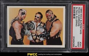 1988 Wonderama NWA Wrestling Superstars Paul Ellering & Road Warriors PSA 9 MINT