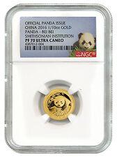 2016 China 1/10 Oz Proof Gold Smithsonian Panda Bei Bei NGC PF70 UC SKU40829
