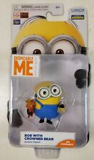 Despicable Me Bob w/ Crowned Bear Minion Made Poseable Action Figure NEW