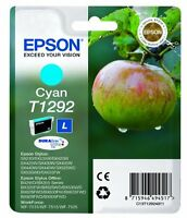 Genuine Epson T1292 Cyan Ink Cartridge for WorkForce WF-3530dtwf WF-3010dw