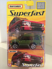 MATCHBOX SUPERFAST #51 Land Rover Discovery in verde scuro 3 inch 1/60 OVP RARO