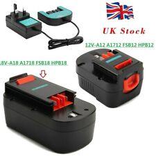Battery For Black Decker 12V A1712 A12 HPB12 A12E,18V A18 A1718 HPB18-OPE A18E