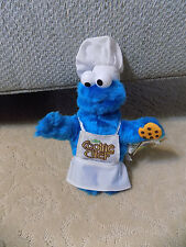 "Sesame Street Cookie Monster Chef Apron Hat 8"" Plush Doll Nanco 2005 w tags Toy"