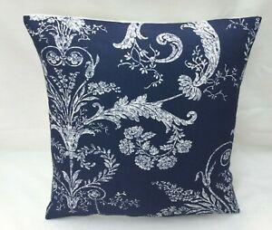 "Laura Ashley Designer Cushion Cover ""JOSETTE MIDNIGHT"" Blue Various Sizes"