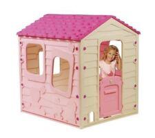 Girls Outdoor Playhouse Plastic Pink Indoor Patio Wendy House Kids Children Toy